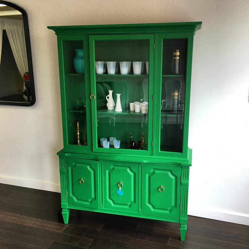 Kelly Green China Hutch