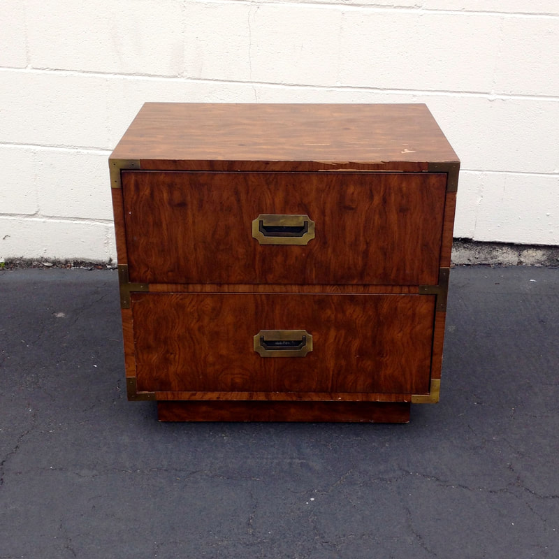 Vintage Dixie Campaigner Nightstand available for custom paint