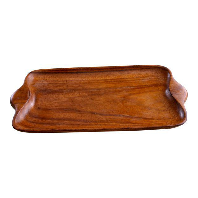 DESCRIPTION This vintage wood platter has endless uses! It makes a wonderful cheese board, a lovely place for a collection of candles, display space for jewelry on your dresser or to corral your bar cart goodies. It shows its age with a few knife marks. It is now ready for a new home after a light sanding and a couple coats of food grade mineral oil.