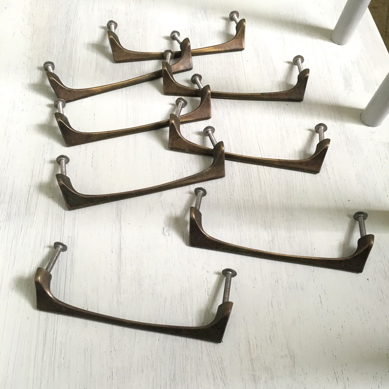vintage metal drawer pulls