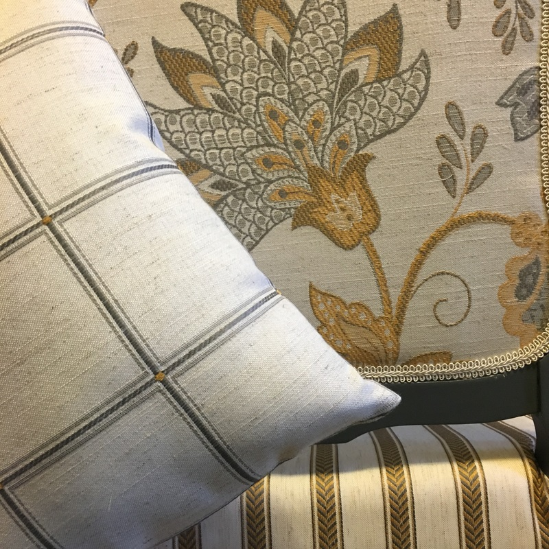 Mix and Match patterns for a unique upholstered chair