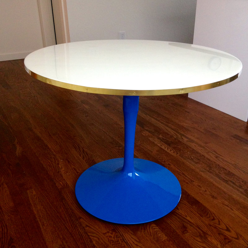 Colorfully Chic Vintage Tulip Table Makeover